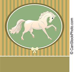 Carta con caballo blanco