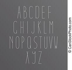 Cartas de alfabeto