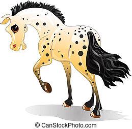 Cartoon a caballo