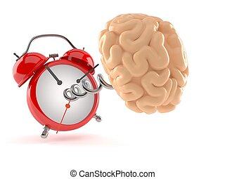 Cerebro con despertador