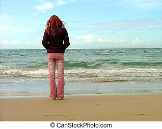 Chica en la playa