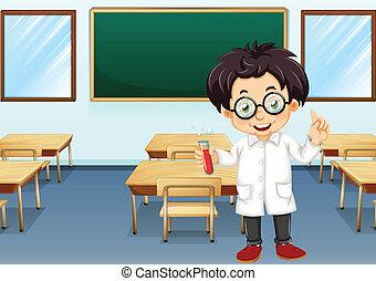 Científico en clase