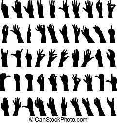 cincuenta, manos