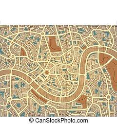 ciudad, anónimo, mapa