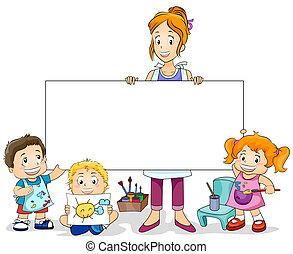 Clase de arte para niños