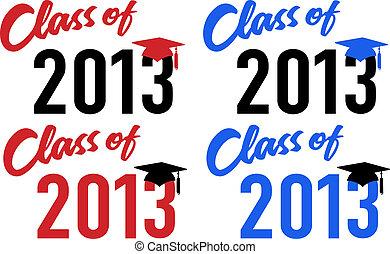 Clase de fecha de graduación escolar de 2013
