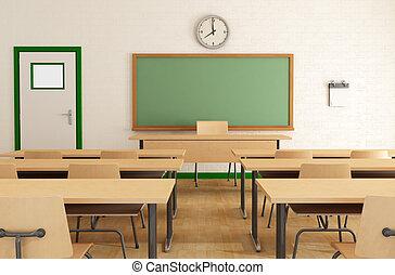 Clase sin estudiantes