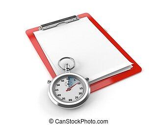 Clipboard con cronómetro