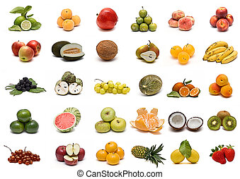 Colección de frutas.