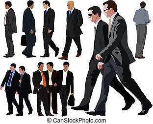 colección, hombre de negocios