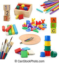 Coleccion de objetos de preescolar