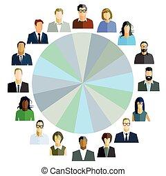 colegas, personal, equipo