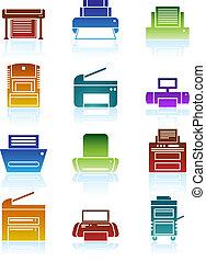 Color de iconos de imprenta