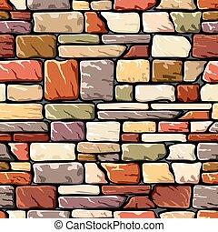 color, pared de piedra