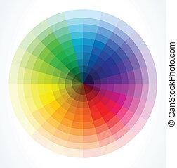 color, vector, wheels., ilustración