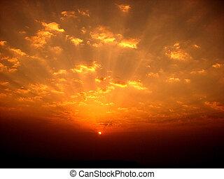 Colorido amanecer