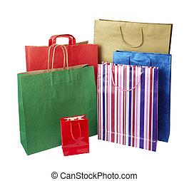Comprando bolsas de consumismo