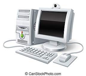 computadora computadora personal, ratón, monitor, teclado