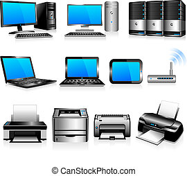 computadoras, tecnología, impresoras