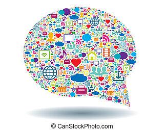 comunicación, burbuja