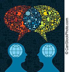 Comunicación cerebral de los medios sociales