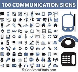 comunicación, señales, 100