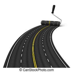 Concepto de construcción de carreteras