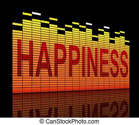 Concepto de felicidad.