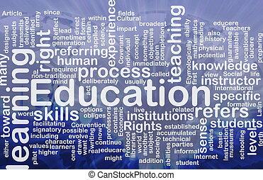 concepto, educación, plano de fondo