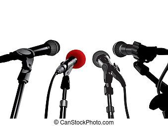 conferencia de prensa, (vector)