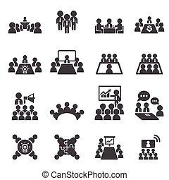 conferencia, empresa / negocio, icono