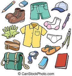 conjunto, ropa