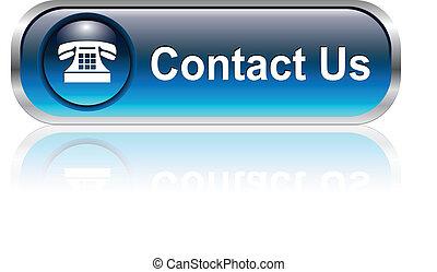 Contacta con nosotros icono, botón