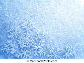 Copos de nieve. La nieve de invierno. Navidad