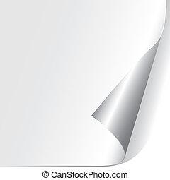 Corporación de papel Curled (vector)