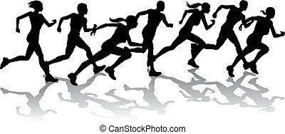 Corredores corriendo