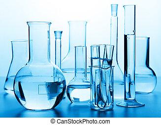 Cristales químicos de laboratorio