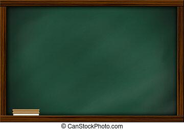 cuadrado, frame., de madera, pizarra, marco, textura, tiza, pizarra, blanco, brush., huellas, vacío