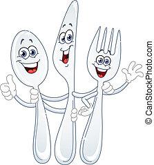 Cuchillo y dibujos animados