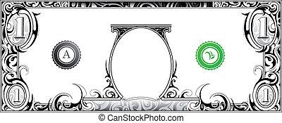 cuenta, dólar