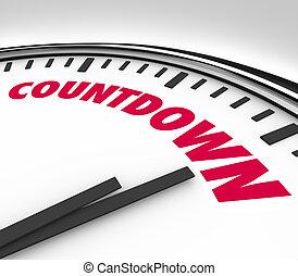 Cuenta regresiva contando las últimas horas y minutos