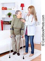 Cuidando a la enfermera