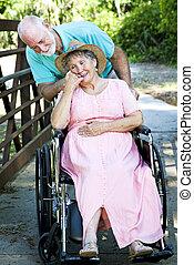 Cuidar a una esposa discapacitada