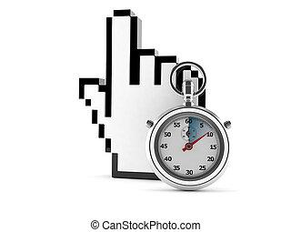 Cursor con cronómetro