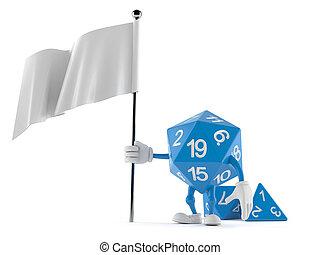 dados, blanco, rpg, carácter, bandera