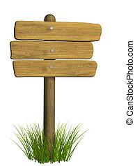 de madera, signboard, tres, tablas