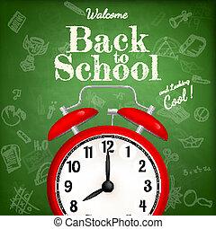 De vuelta a la escuela con despertador. EPS 10