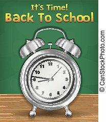 De vuelta a la escuela con despertador