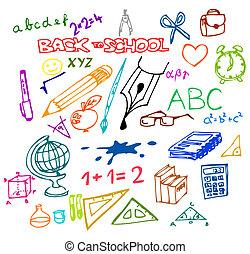 De vuelta a la escuela - ilustraciones
