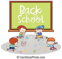 De vuelta a la pancarta escolar con los estudiantes